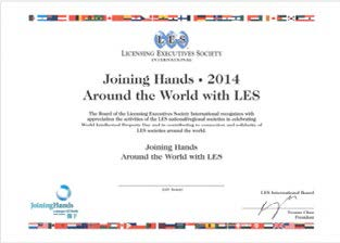 Joining Hands 2014 Around the World with LES