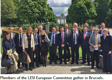 Members of the LESI European Committee gather in Brussels.